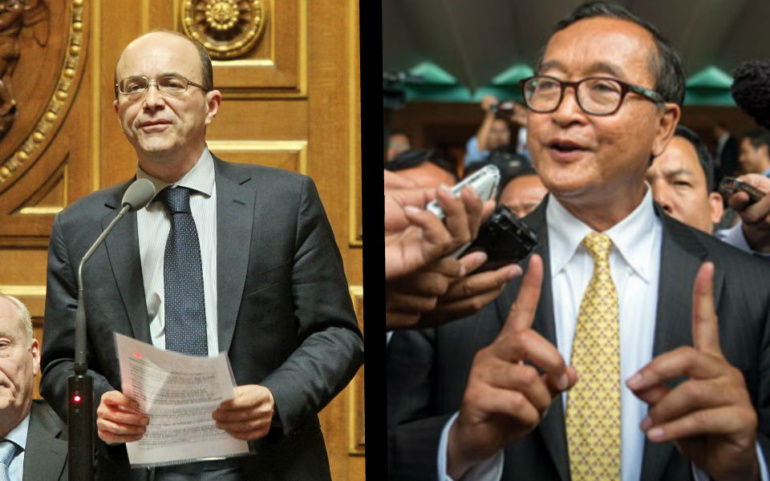 André Gattolin supports Sam Rainsy, main Cambodian opposition leader