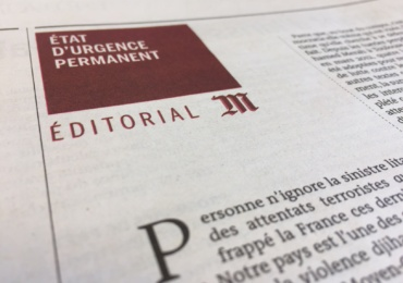 Le Monde: the risk of a permanent State of emergency