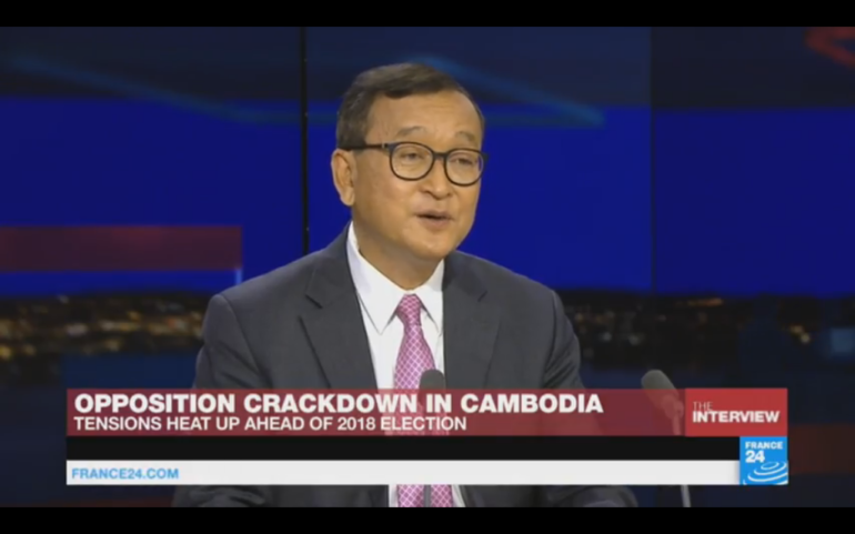 France 24 interviews Sam Rainsy