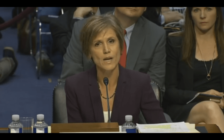 """We are not just a law firm, we are the Department of Justice"" former US Attorney General Sally Yates says"
