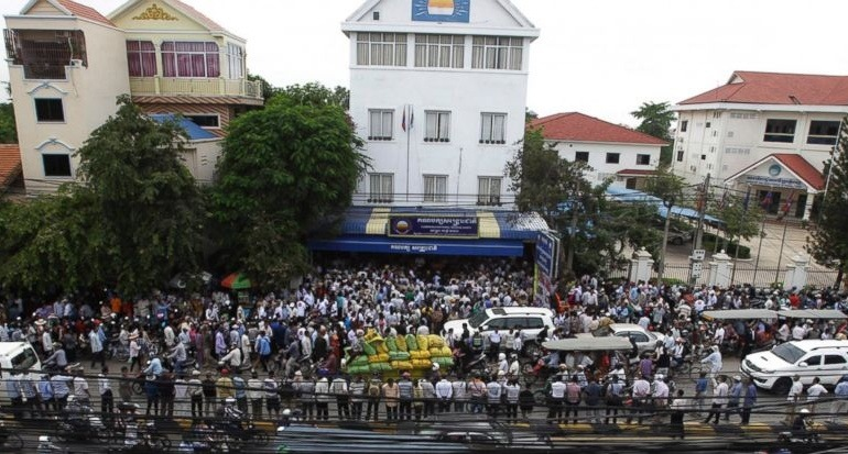 Rainsy Sam statement on the seizure of former opposition HQ in Phnom Penh
