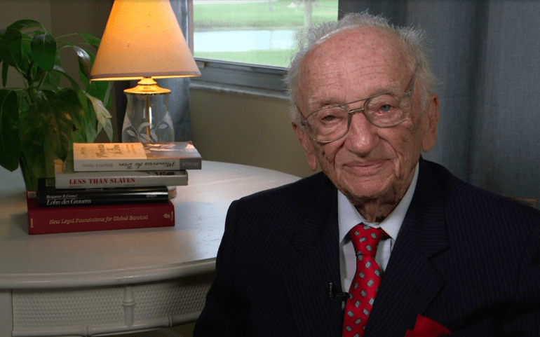 "Message by Ben Ferencz to the conference ""SOS Rule of Law"""