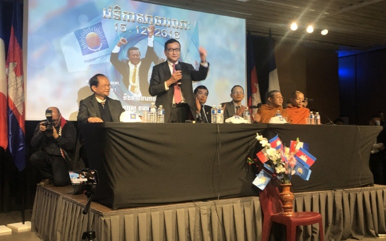 Sam Rainsy confirmed as Acting President of the CNRP