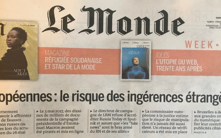 "Le Monde denounces the high risk of ""foreign interferences"" in the European elections"