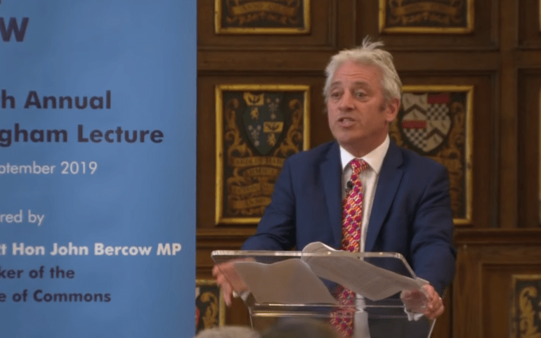 Why the resignation speech by Speaker Bercow matters