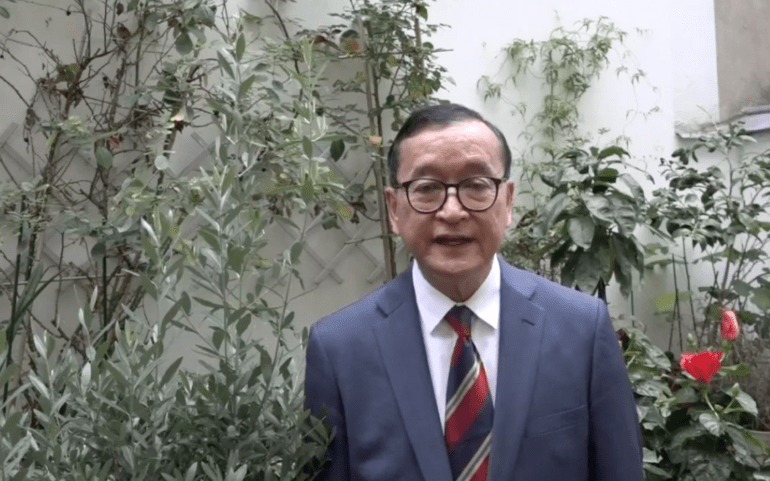 Sam Rainsy's appeal to the international community