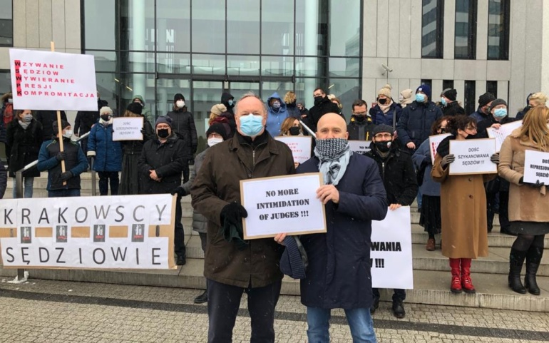 New demonstration at the Cracow Regional Court