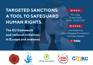 """Online round-table: """"Targeted sanctions: a tool to safeguard human rights"""""""